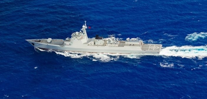 Chinese Navy holds drills amid US violation